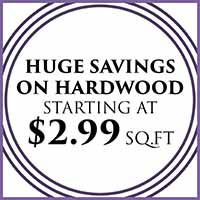 Anniversary sale going on now!  Hardwood flooring starting at only $2.99 sq.ft. – only at Murley's Floor Covering in Kennewick, Washington