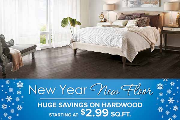 New Year - New Floor! Huge Savings on Hardwood Flooring - Starting at $2.99 SQ. FT. at Murley's Floor Covering LLC!