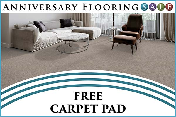 Anniversary sale going on now! Free Carpet Pad only at Murley's Floor Covering in Kennewick, Washington